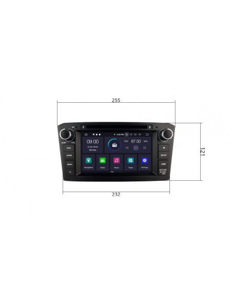 Radio_2_din_Toyota_T25_PX5_4_64_GB_Android_czarne_zdjęcie_główne_4