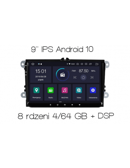 """VW_Seat_Skoda_9""""_4_64_GB_PX5_DSP_Android_Radio_2_din_zdjęcie_główne_1"""