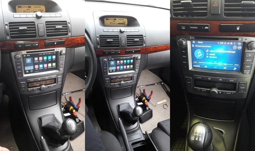 Radio_2_din_Toyota_T25_PX5_4_64_GB_Android_zdjęcie_po_montażu
