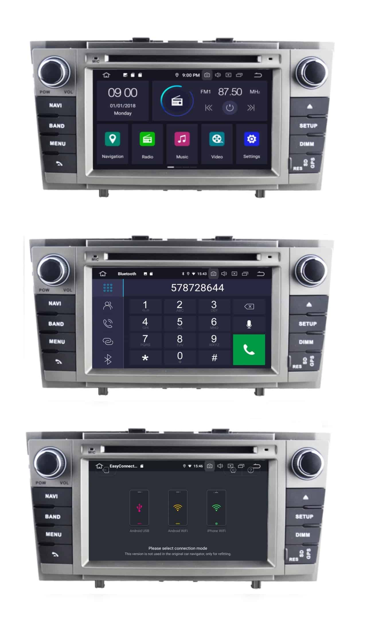 Radio_2_din_Toyota_T27_PX5_4_64_GB_Android_menu_bluetooth_mirror_link