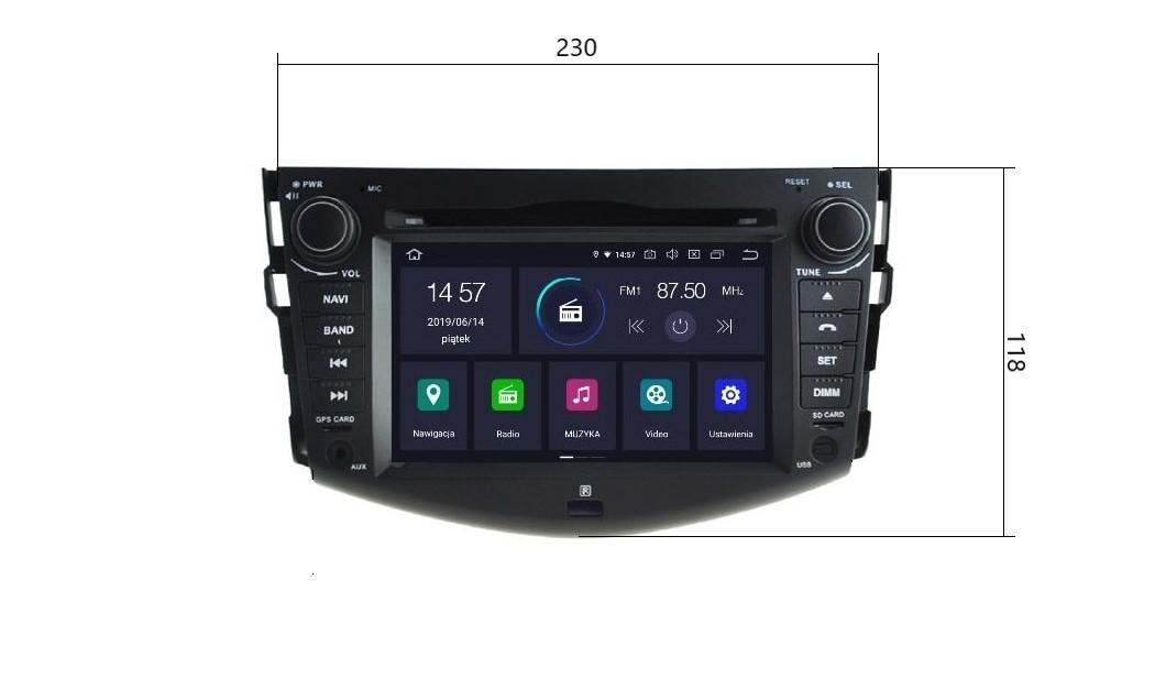 Radio_2_din_Toyota_RAV4_PX5_4_64_GB_Android_widok_z_przodu