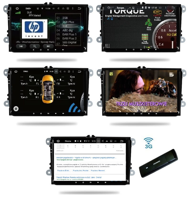 "VW_Seat_Skoda_9""_4_64_GB_PX5_DSP_Android_Radio_2_din_DAB_Torque_TPMS_DVB-T_Chrome"