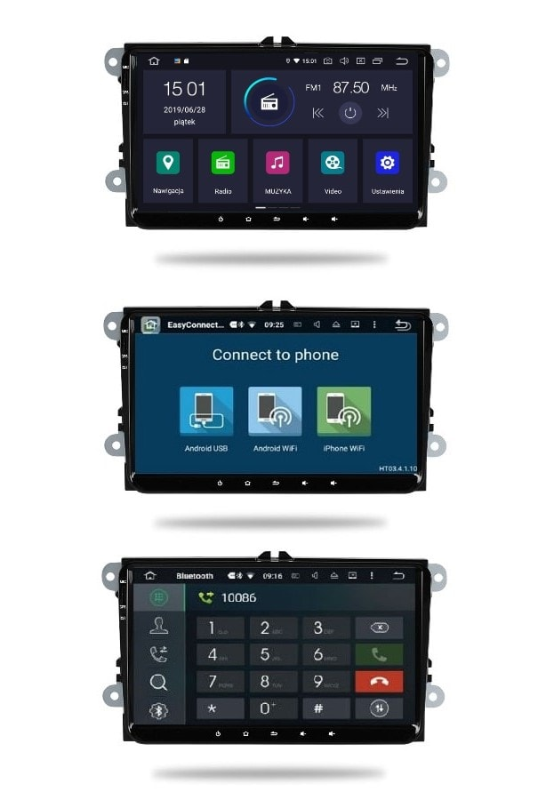 "VW_Seat_Skoda_9""_4_64_GB_PX5_Android_menu_mirror_link_bluetooth"