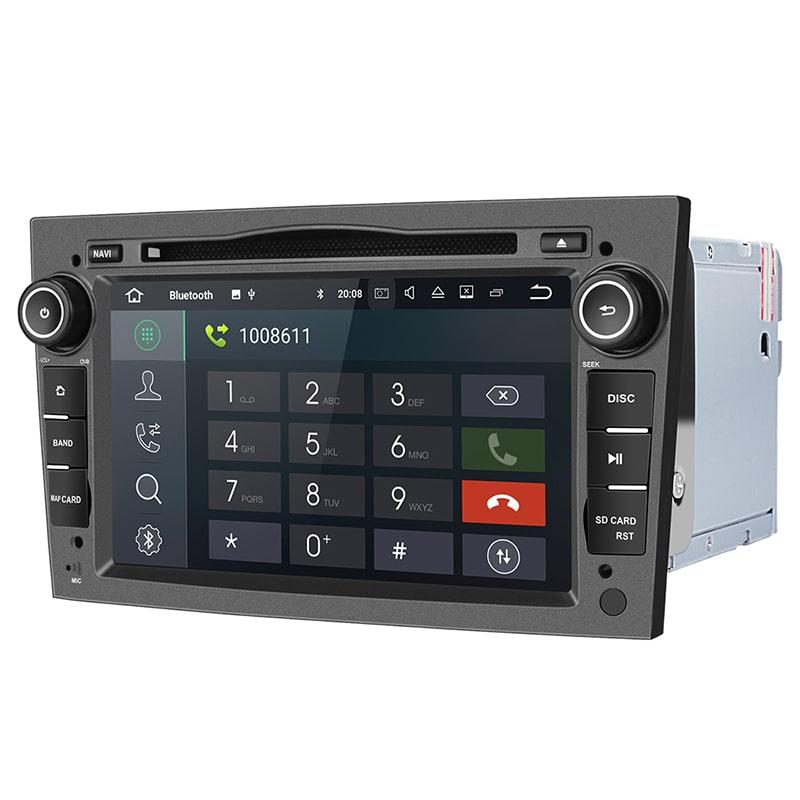Radio_2_din_szare_Opel_Astra_Corsa_Vetra_2_16_PX30_Android_widok_z_prawej