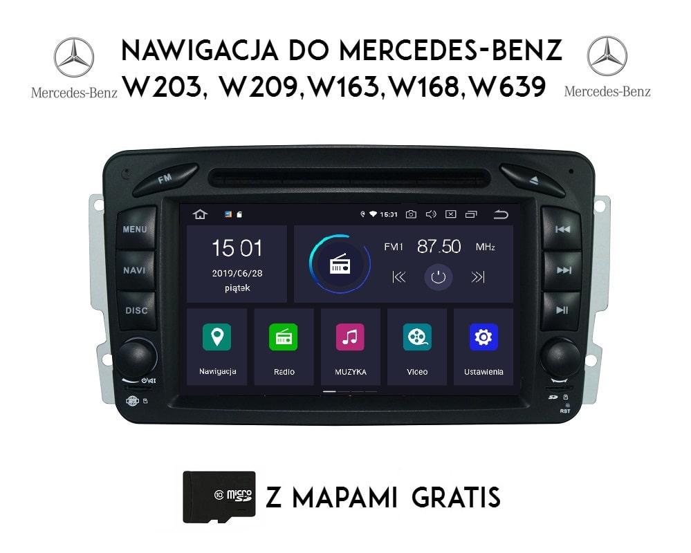 Mercedes_Przedlift_W203_W209_Vito_Viano_4_64_GB_Android_PX5_widok_z_przodu