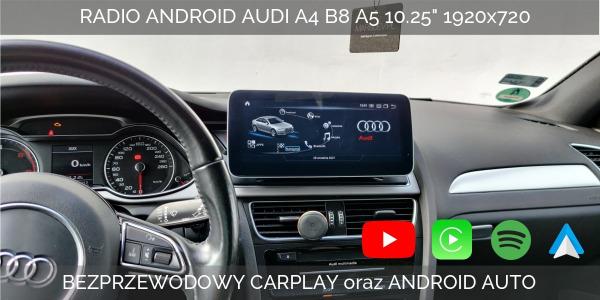 Recenzja monitora z Androidem do samochodów marki Audi A4 B8 A5